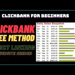 🔥 Clickbank For Beginners FREE: Direct Linking: No Investment And No Website Needed: 🔥