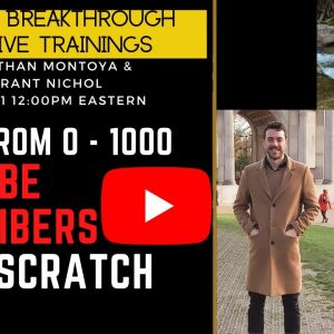 Grant Went from 0 to 1000 YouTube subscribers From Scratch - His Journey to quitting his 9-5 Job