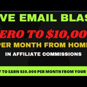Best Email Affiliate Marketing 2021 For Beginners: $500+ Paydays - Live Email Campaign