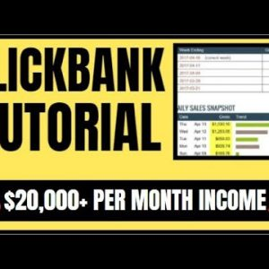 🔥 Clickbank Tutorial - How To Make Money As A Beginner [Step By Step]