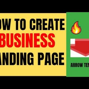 """🔥 Landing Page Builder: Arrow """"DFY"""" Template - Step By Step Tutorial For Beginners"""