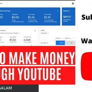 How to Make Money on YouTube | Earn Money from Youtube videos Fast | How to Get 1000 Subscribers