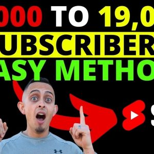 How To Get Subscribers With YouTube Shorts - 1k To 19k Subscribers in 3 Weeks!
