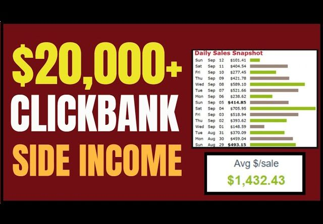 🔥 Clickbank Tutorial For Beginners 2021 | $20,000 Per Month Side Income Step By Step | 🔥
