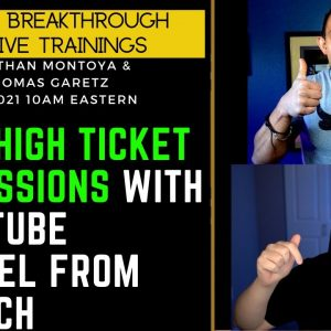 Make High TICKET COMMISSIONS With YouTube From Scratch With Thomas Garetz