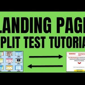 How To Create a Landing Page With Split Test