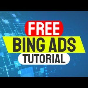 Bing Ads Tutorial | PPC Marketing | Bing Ads Full Course
