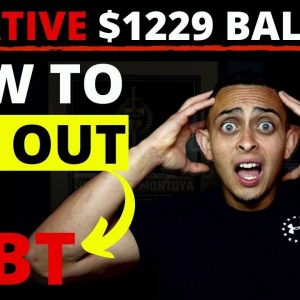 I Had -$1229 In The Bank - How To Get Out Of Debt If You're Broke