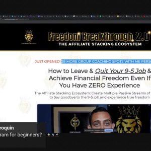Started NEW Business from Scratch (New YouTube Channel, Affiliate Business) Freedom Breakthrough 2.0